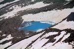 озеро Синее, вид с перевала