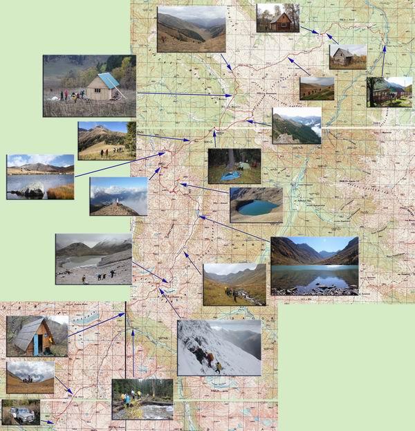 карта поход Алоус