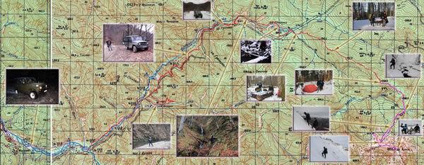 карта поход Аутль