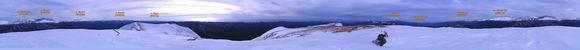 панорама с вершины горы Аутль