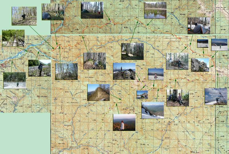 карта поход Бзыч