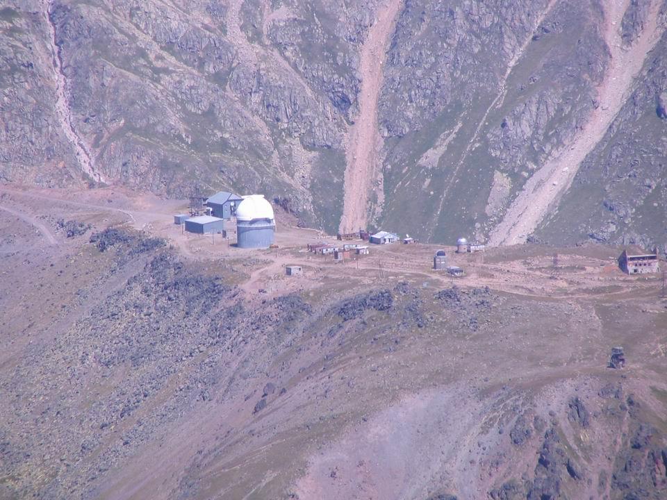 Обсерватория на отроге горы эльбрус