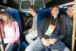 в микроавтобусе по дороге в Псебай