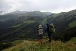 вид в сторону горы Дзювя с хребта Агиге