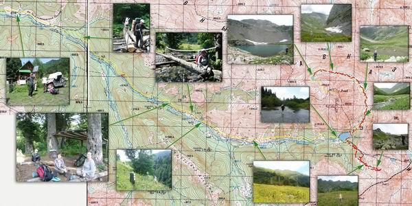 карта поход Кардывач