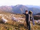 на фоне горы Кут