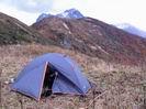 утро на фоне вершины Фишт
