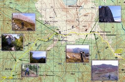 карта 2-ой день похода