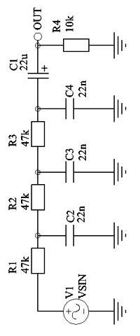 Расчет фильтров нижних и верхних частот
