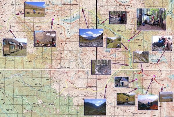 карта поход Цахвоа