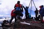 на вершине горы Тыбга