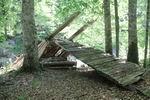 сломанный мост через реку Киша