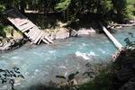 разрушенный мост через реку Киша